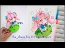 How to make chibi kawaii bubble girl figure | fan art for ibu_chuan | DIY| Clay Tutorial
