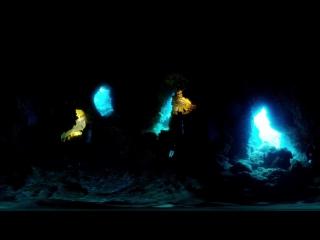 Дайвинг в Голубой пещере, Остров Орхидей, Тайвань