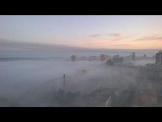 Донецк 10 июля  утра, туман