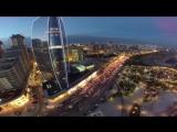 Огни Ночного Города Баку - съёмка с квадрокоптера DJI Phantom 3 Professional (Январь 2017)