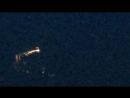 Необычный НЛО с хвостом кометы в ночном небе Англии