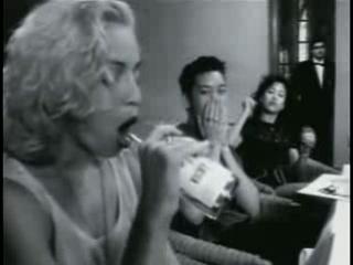 Madonna sucks the bottle