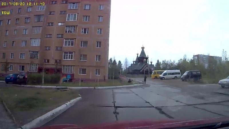 Автомобилист отбил ребенка от стаи собак в городе Усинске.