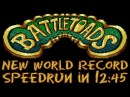 Battletoads NES Any% in 12 45 Former Record