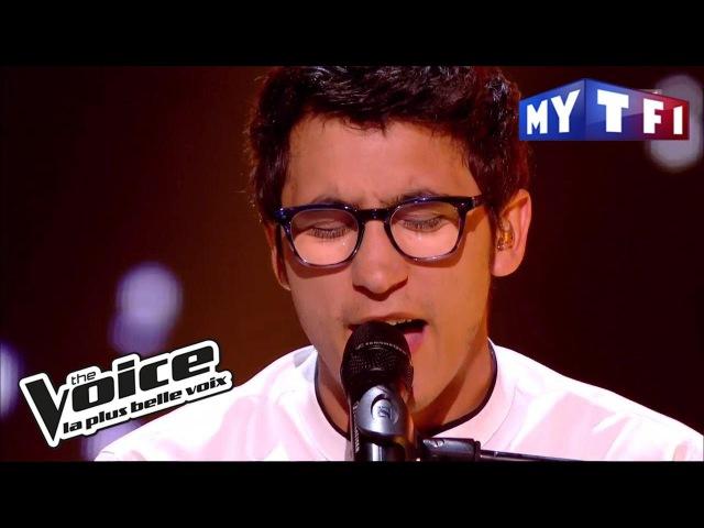 Vincent Vinel - « Feel » (Robbie Williams) | The Voice France 2017 | Live