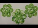 Урок вязания крючком ЦВЕТКА двухцветного Crochet Flowers Вязаные цветы крючком