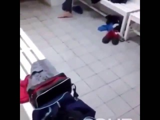 Sliding naked man