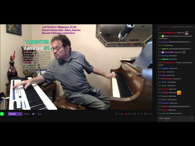 Piano Man Plays Megalovania! CHAT GOES WILD