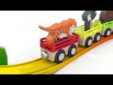 Песенка для детей от года,песня про паровозик и животных из зоопарка.