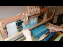 Weaving on my table loom