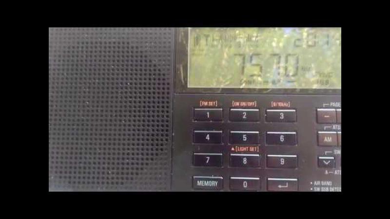 WRMI The Overcomer Ministry, 7570 kHz 16/06/17 USA