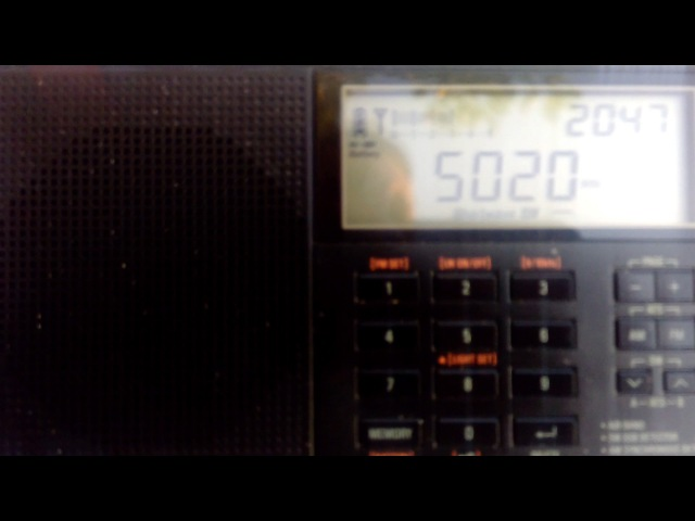Radio Solomon Island 5020 kHz 16.06.17