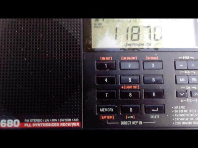 KNLS Alaska/Аляска, 11870 kHz на русском (16.06.17)