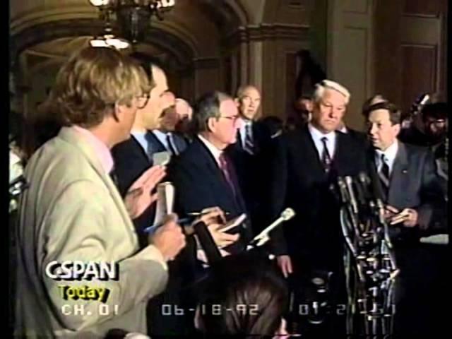 Ельцин найдет каждого американца пропавшего в России. 1992 год