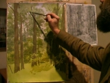 Школа рисования Сергея Андрияки (Акварель. Летняя аллея)