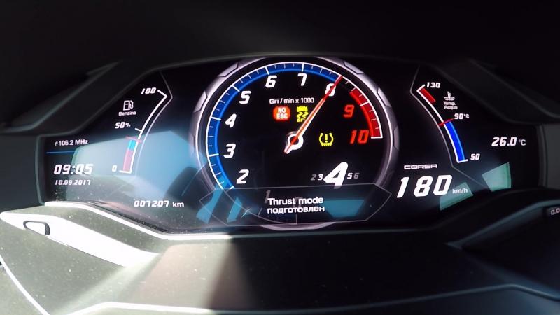 Lamborghini Huracan K8-Strasse Stage 3 - 1/4 mile(0-200 km/h) acceleration