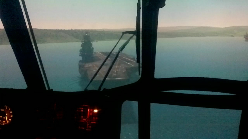 Посадка на ТАВКР Адмирал Кузнецов Ми-8Т б/н RA-24012