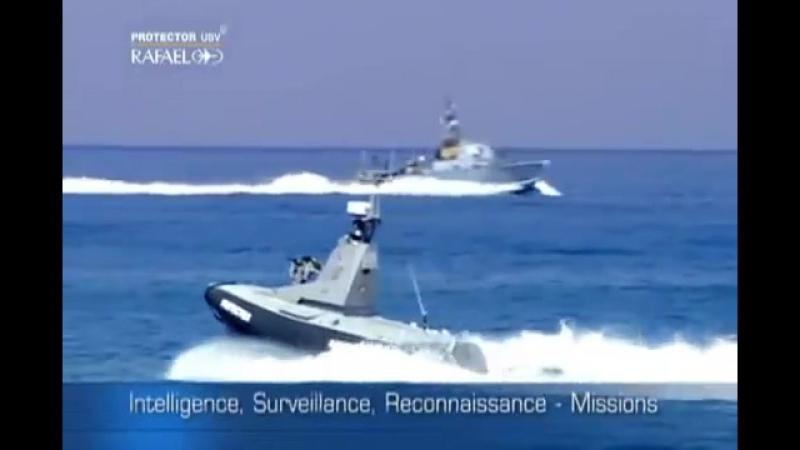 Рафаэль Advanced Systems Defense - Protector беспилотные надводного судна (USV) [480p]