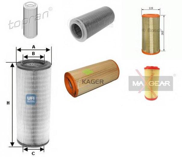 Воздушный фильтр для AUDI A2 (8Z0)