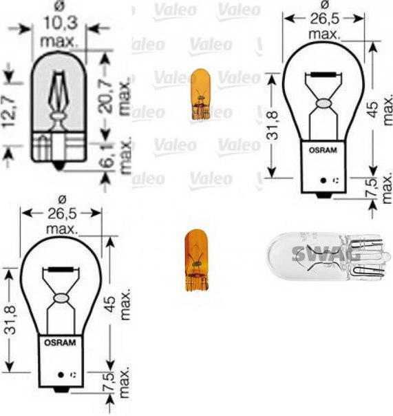 Лампа накаливания, стояночный / габаритный огонь для AUDI A2 (8Z0)