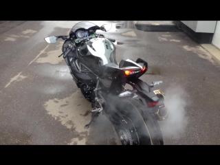 Kawasaki ninja h2 живой звук турбомонстра 💪😈