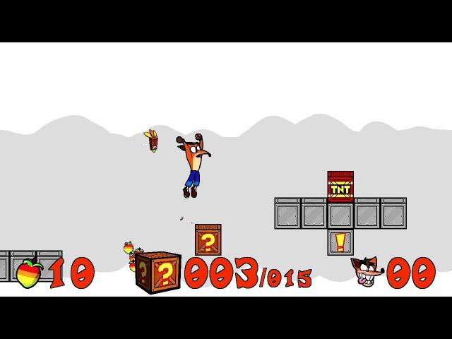 Crash N. Tense Adventure - FANGAME, test level playthrough