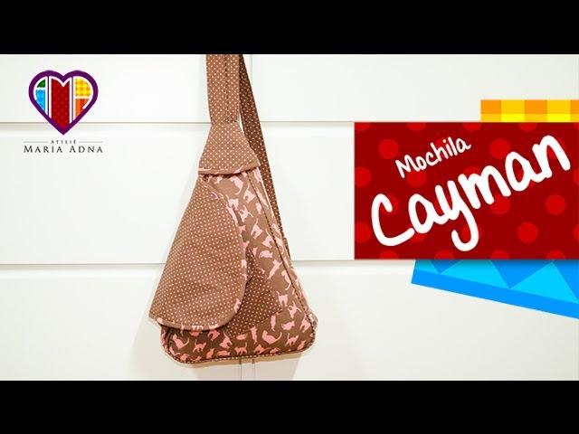 Mochila de tecido Cayman. Fabric backpack tutorial