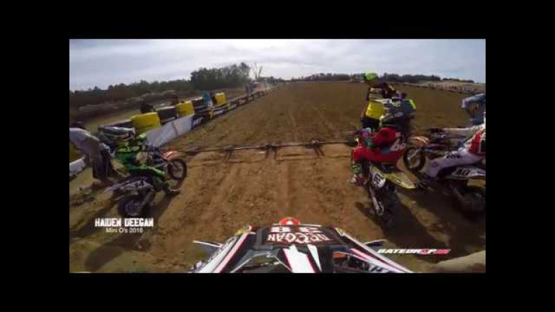 Haiden Deegan Danger Boy on rails Gopro Hero 5 EPIC LAST LAP PASS for Win MiniO's 2016