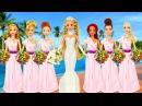 Поделки из пластилина Плей До Куклы Принцессы Диснея Рапунцель Ариэль Свадебн ...