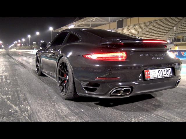 Porsche 991 Turbo PP Performance 1/4 Mile Abu Dhabi Yas Marina Drag Strip