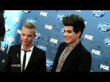 Adam Lambert &amp Sauli Koskinen on the Red Carpet (American Idol Finale)