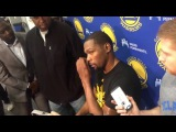 Kevin Durant Pregame Traning and interview Warriors vs Pelicans