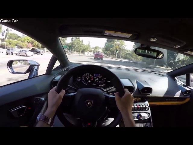Игра с Иномаркой 2015 Lamborghini Huracan LP 610 тест драйв от первого лица