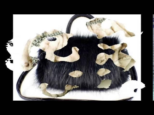 Сумки из меха такие милые забавные Меховые сумки для деловой женщины