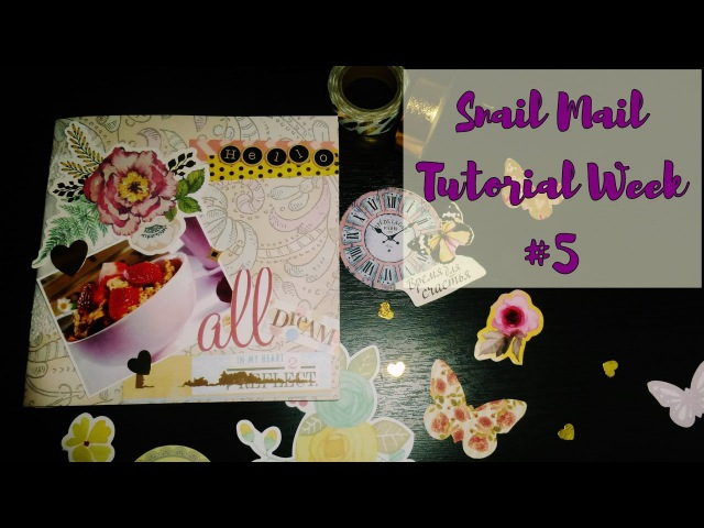 Mail art / Snail mail tutorial / Неделя писем - пятый выпуск / Decoration / AMIX