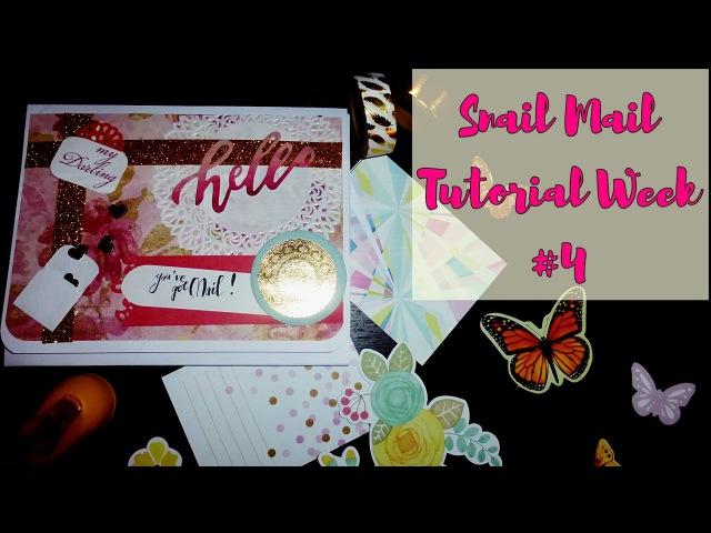 Mail art / Snail mail tutorial / Неделя писем - четвертый выпуск / Decoration / AMIX