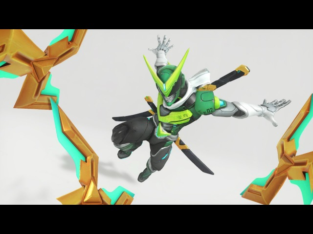 Overwatch - Sentai Genji With Golden Weapons Practice Range Gameplay