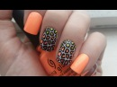 Spring/Summer Neon Ombre Leopard Nail Art - Advance Nail Stamping For Beginners