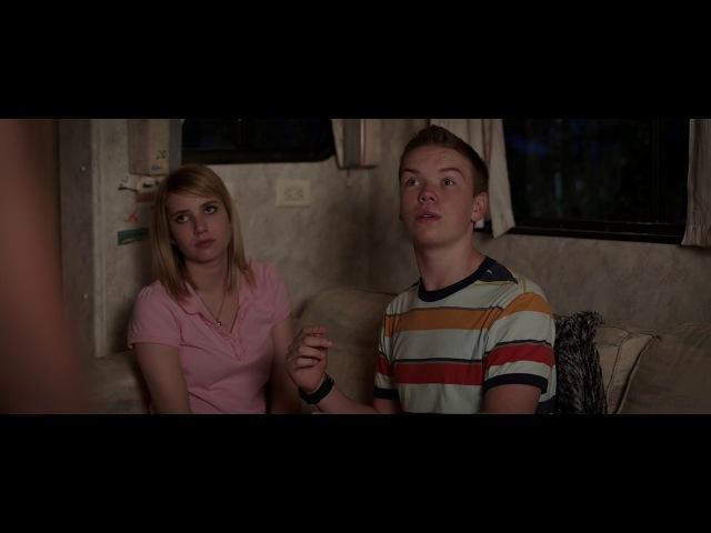 Смешной момент из фильма Мы миллеры учат парня целоваться