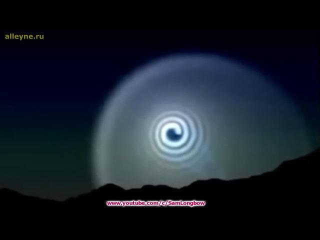 Странная световая спираль над горами в Мексике
