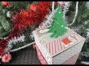 Коробка для сладкого подарка и Новогодние открытки Скрапбукинг мастер класс Aida Handmade