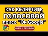 Как включить голосовой поиск по фразе OK Google