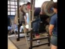 Джо Пенья - присед 343 кг на 5 повторов