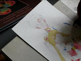 Сейлор Мун и Такседо Маск. Арт работы by ASH http://vk.com/animepv