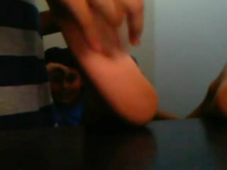 Boy with hat having feet tickled - Pt 1