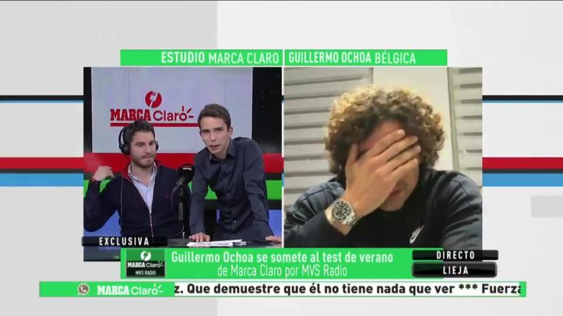 ¡Contesta TODO! El TEST de VERANO de MarcaClaroMVS a Guillermo Ochoa.