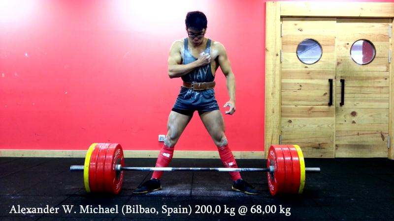 Alexander W. Michael 200,0kg @ 68,00kg (Bilbao, Spain). Team Phalanx Eroica.