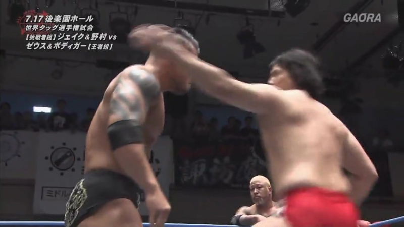 The Big Guns (The Bodyguard, Zeus) (c) vs. NEXTREAM (Jake Lee, Naoya Nomura) (AJPW - Summer Action Series 2017 - Day 1)