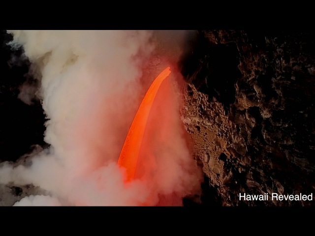 Incredible Firehose Lava from Drone