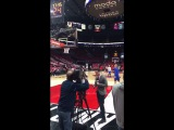 Sights &amp Sounds from Warriors (3-0) pregame routines, G4 POR Stephen Curry, Durant, Klay, Draymond